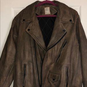 Free People Jackets & Coats - Free People Genuine Leather Jacket
